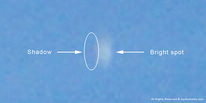 UFO appears in aviation contrail (illustration)