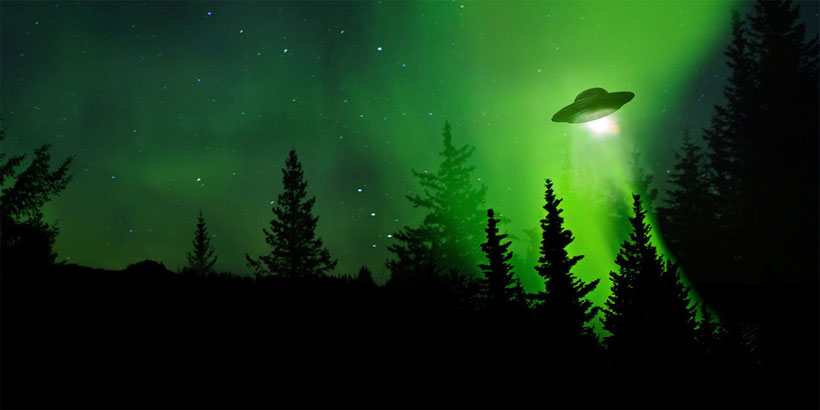 UFO sighting, landing and alien contact
