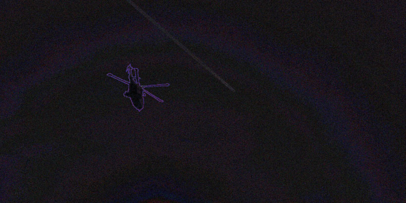 Fake helicopter in cigar-shaped UFO image Error Level Analysis