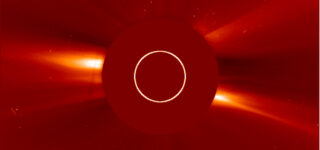 Solar observatory spacecraft real-time coronagraphs