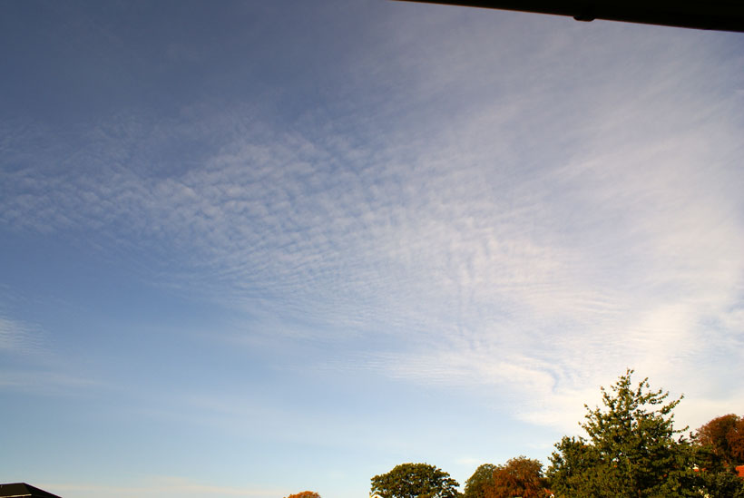 Cirrocumulus cloud cover