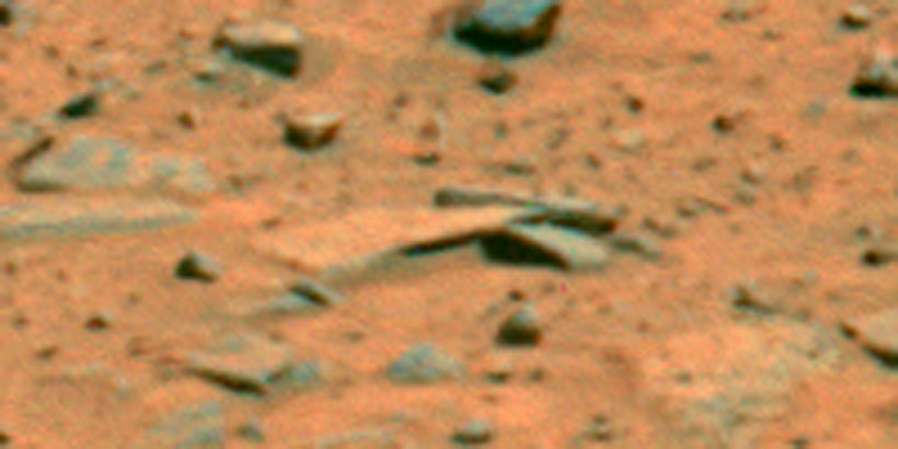 Curved building rock formation on Mars!