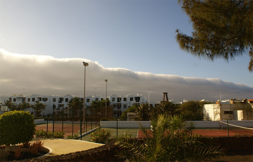 Horizontal stratocumulus cloud above Lanzarote coast (2)