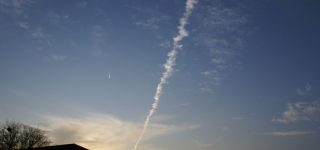 Rare aircraft contrail captured on photography