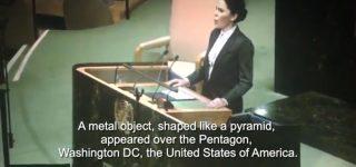 Alien contact announcement by Aliya Prokofyeva at UN meeting