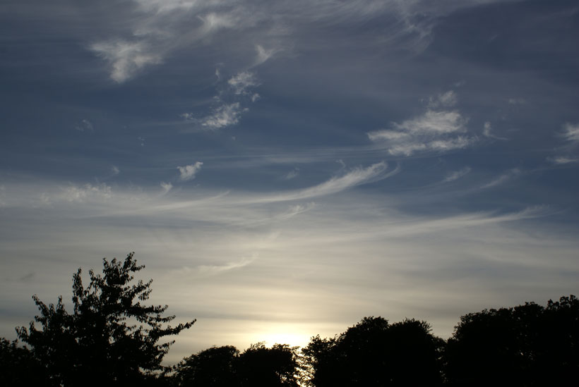 Beautiful Cirrus cloud strands in Cirrus sky