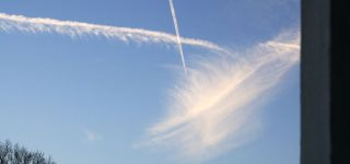 Sylph-like contrail-cloud captured on photography